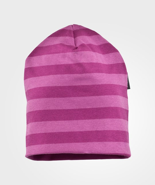 Mikk-Line Jersey Hat Striped Radiant Orchid