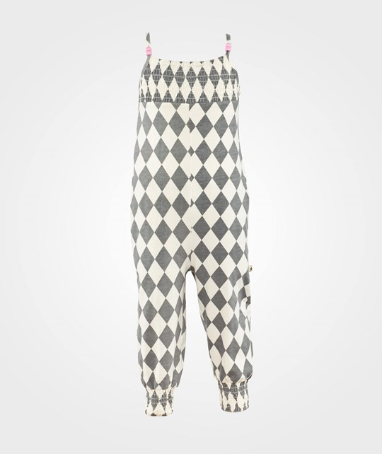 Nova Star Jolin Jumpsuit  Grey/White