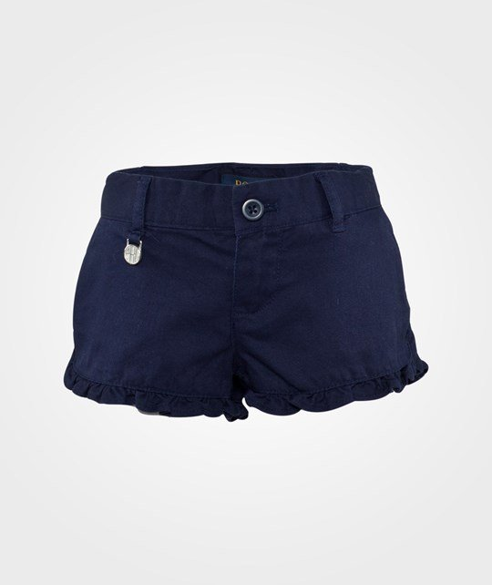 Ralph Lauren Ruffled Chino Shorts Newport Navy Newport Navy