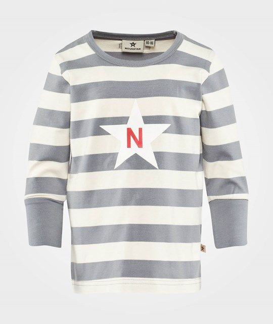 Nova Star Striped T Grey Grey/White