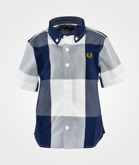 Fred Perry Kids Gingham Shirt French Navy