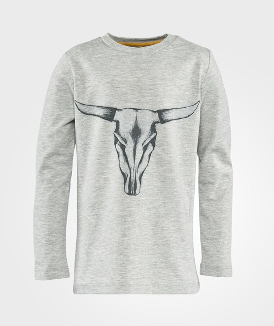 Little Pieces Ls Tee Bull  Light Grey Melange