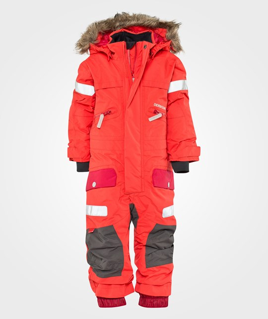 Didriksons Theron Kids Coverall Poppy Red