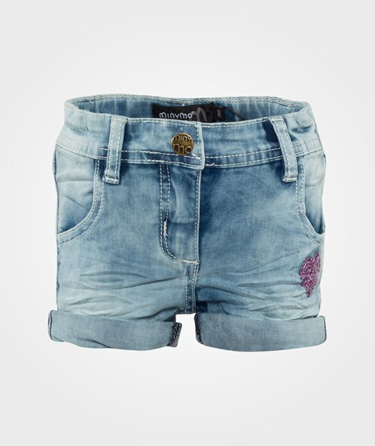 Minymo Anna 67 Denim Shorts  Blue Denim