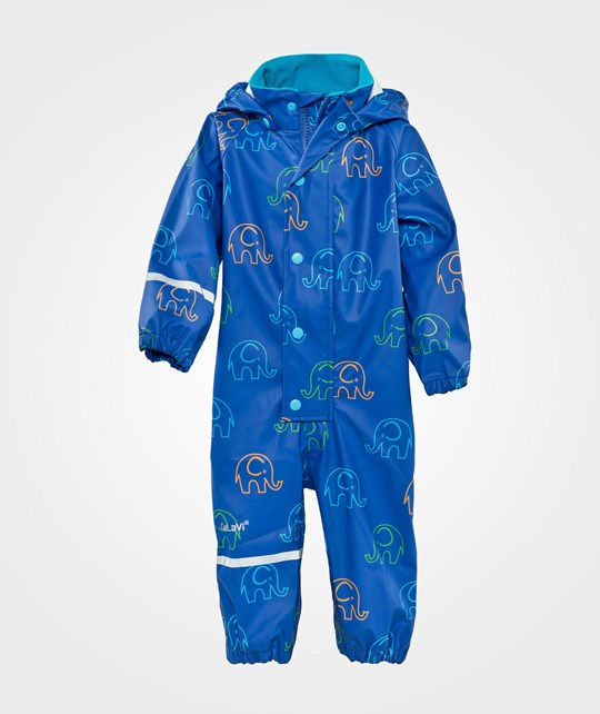 Celavi Rainsuit Elephants  Oceanblue