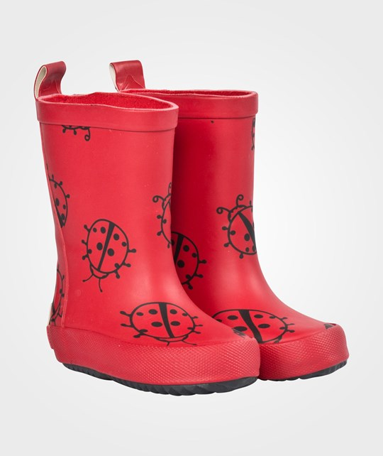 Celavi Rain Boots Animals Red