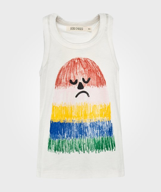 Bobo Choses Tank Top Mr Puzzled White