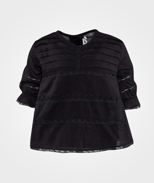 How To Kiss A Frog Tia Blouse Black voile