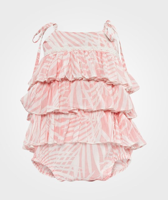 How To Kiss A Frog Tiara romper Pink palms