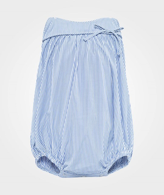 How To Kiss A Frog Mr Romper Blue/white stripe