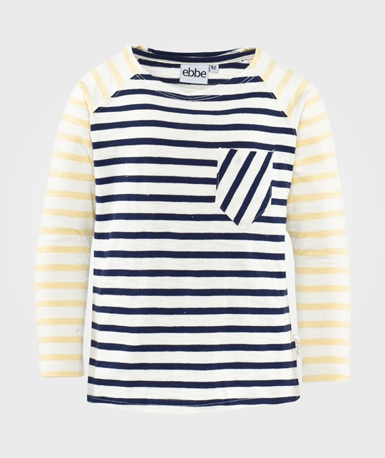 ebbe Kids Stan T-Shirt L/S Raglan  Offwhite / Navy / Golden Haze