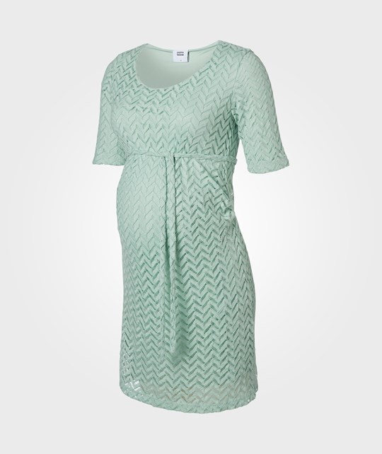 Mamalicious Fiola 2/4 Lace Dress  Aqua Foam