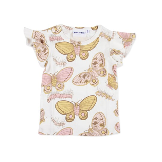 Mini Rodini Wing Tee Butterfly White