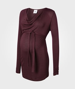 Mamalicious Water LS Knit Top Winetasting