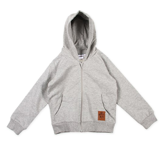 Mini Rodini Zip Hood Grey Black