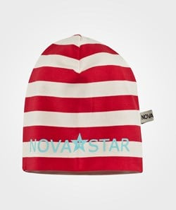 Nova Star Striped Beanie Red
