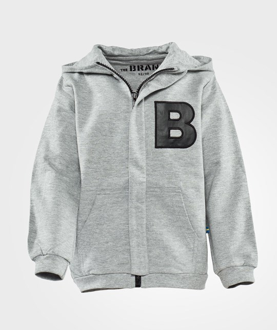 The BRAND B-Hoodie Grey Mel Black