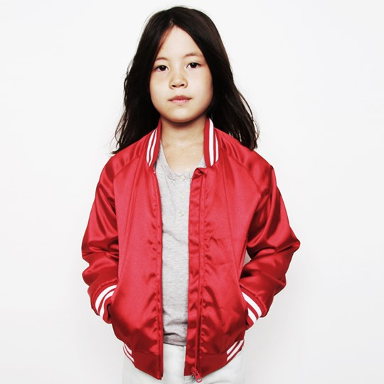 Mini Rodini Reggio Baseball Jacket Red