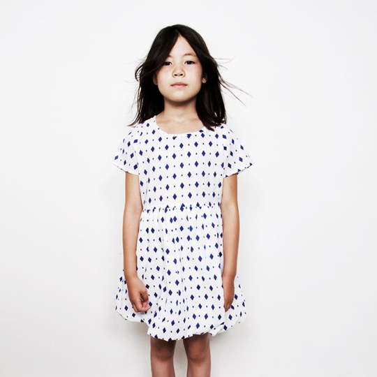 Mini Rodini Balloon Dress Blue Blue