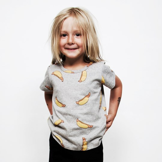 Mini Rodini T-shirt Hotdog Black
