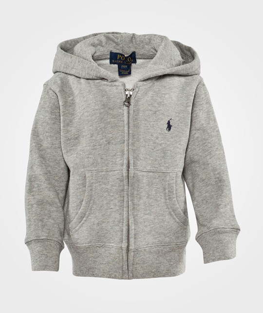 Ralph Lauren Lsl Fz Hood Pp Dark Sport Heather