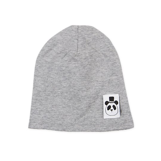 Mini Rodini Beanie Solid Grey Black