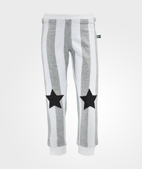 The BRAND Striped Star Pant Grey Mel Stripe Black