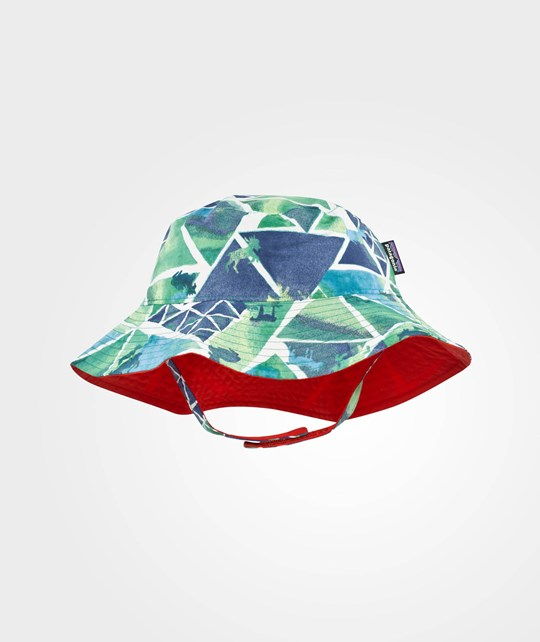 Patagonia Baby Sun Bucket Hat Goat Climber Lime Green Goat Climber:Lime Green