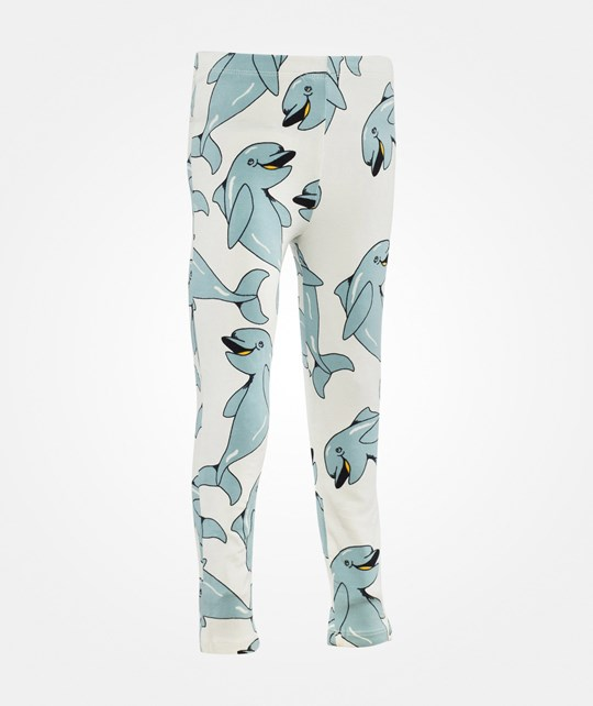 Mini Rodini Dolphin AOP Leggings Blue