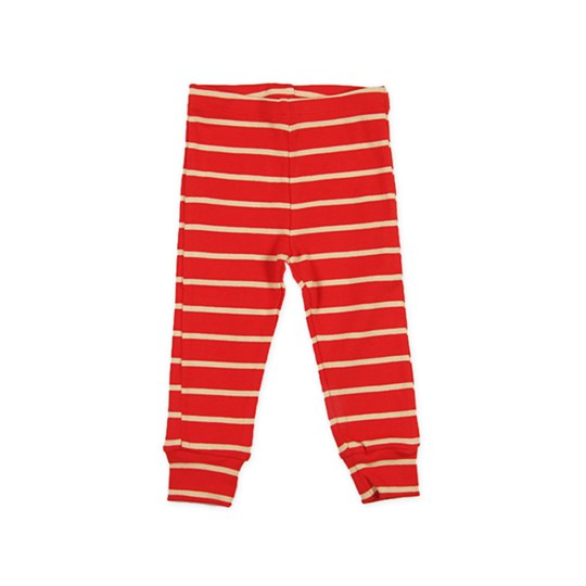 Mini Rodini Leggings Big Stripe Röd Red