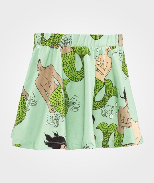 Mini Rodini Mermaid & Merman AOP Skirt Green Green