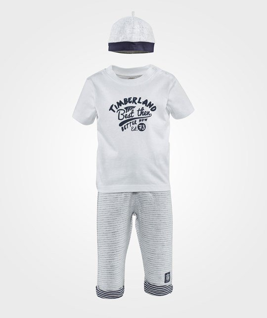 Timberland Clothing Set T-shirt and Pants  Gris Clair Chine