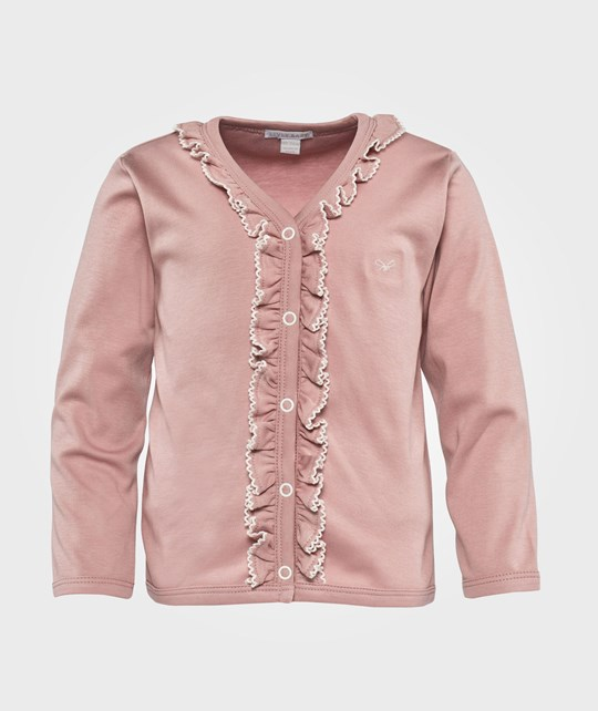 Livly Picot Frilled Cardigan  Cherry Blossom/ Ivory