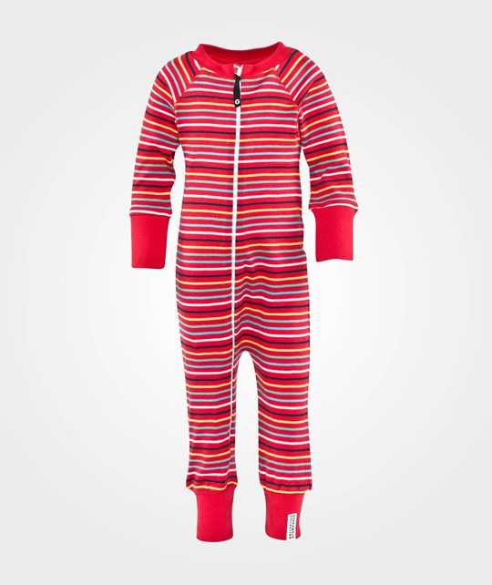 Geggamoja Pyjamas  Multistriped Red