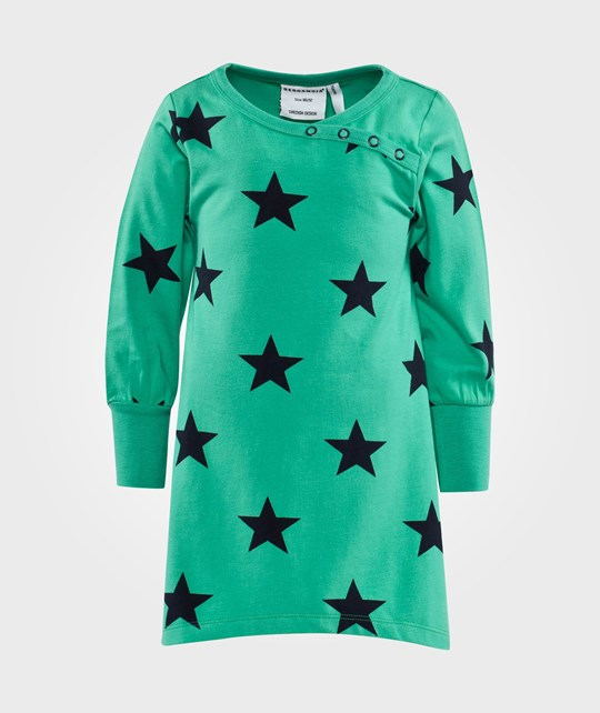 Geggamoja Star Dress Green Star