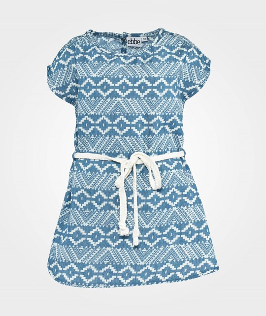 ebbe Kids Teea T-Shirt Dress S/S  Inka blue/white