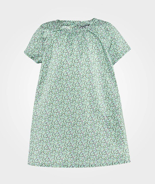 ebbe Kids Tanny Dress S/S Baby  Green miniflower