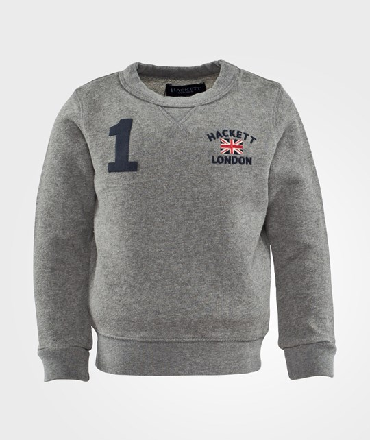 Hackett Crew Sweat B Grey Musta