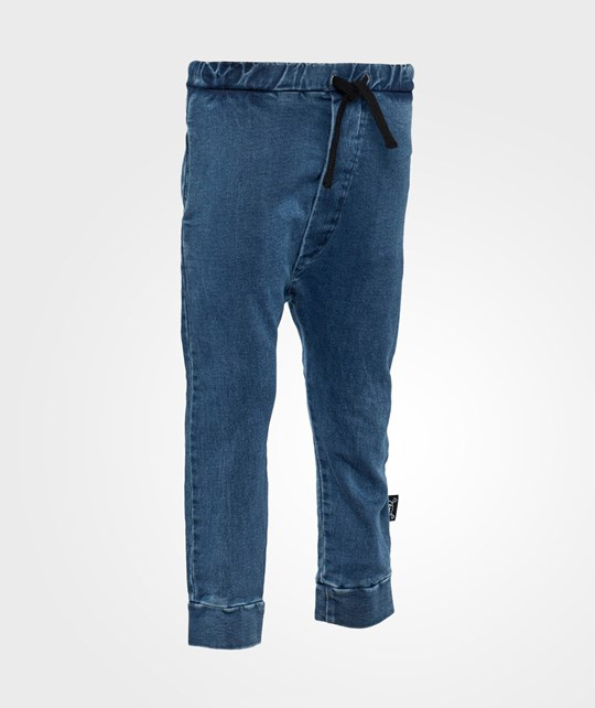 NUNUNU Light Terry Pants Denim Denim