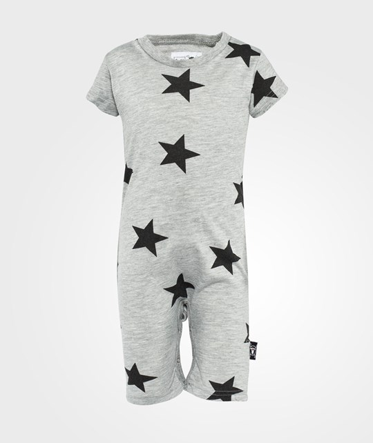 NUNUNU Star Playsuit Grey Black