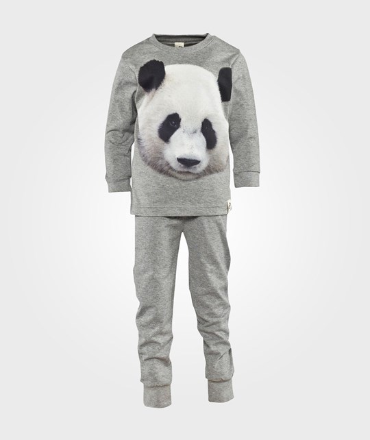 Popupshop Night Wear Grey Melange Panda Grey Melange Panda