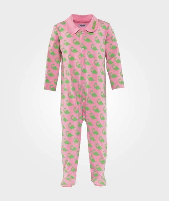 Moschino Baby Rompers  All Over Dino Pink