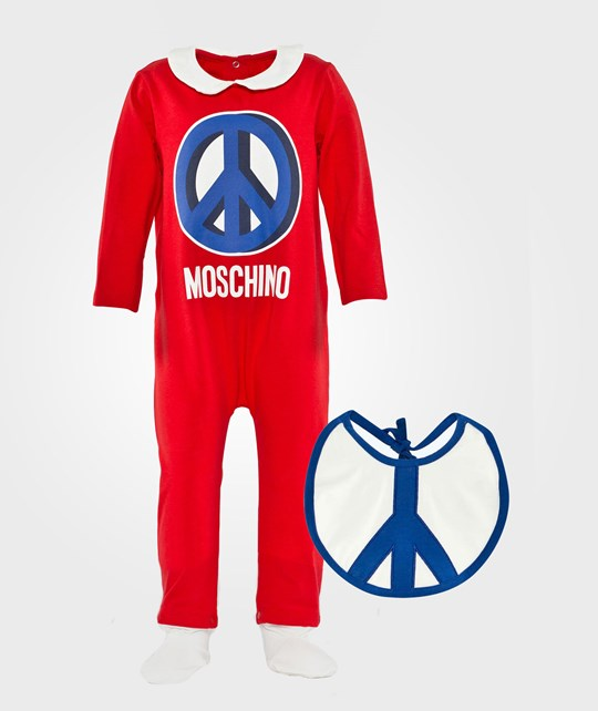 Moschino Baby Rompers+Bib  Red Love