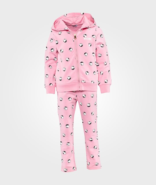 Moschino Baby Sweatshirt+Trousers All Over Sassi Pink