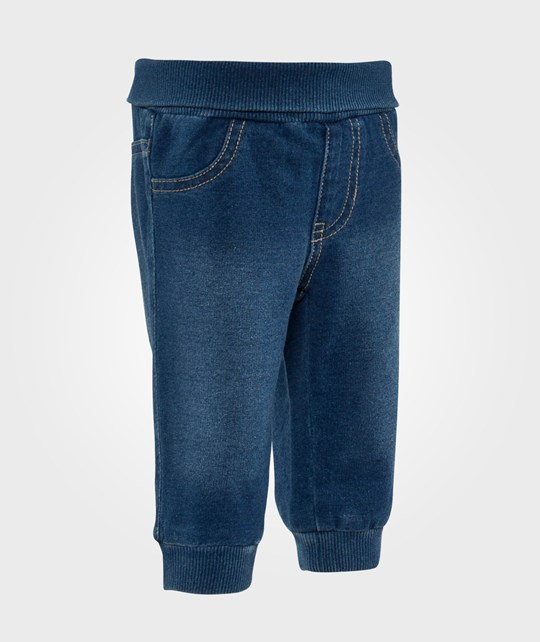 United Colors of Benetton Denim Jersey Pants Blue Blue