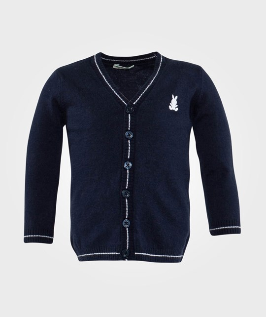United Colors of Benetton Knit Cardigan Navy Blue Navy Blue