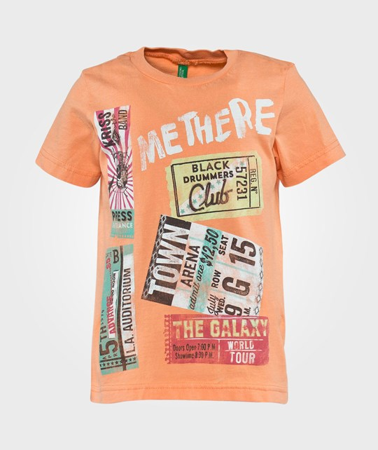 United Colors of Benetton Printed T-Shirt Orange Orange