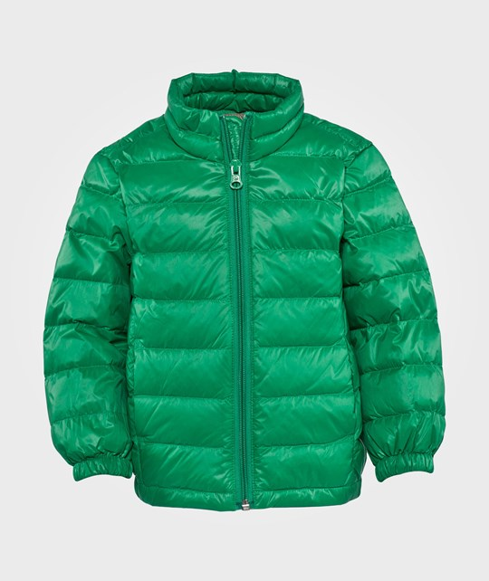 United Colors of Benetton Padded Jacket With Travel Bag Attached Green Green