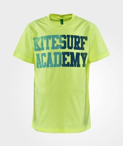 United Colors of Benetton Kitesurf Academy Print T-Shirt Yellow