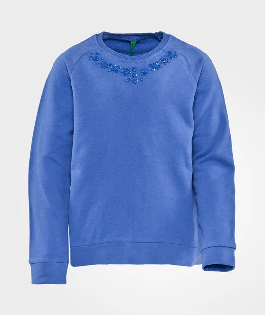 United Colors of Benetton Sweater With Embellished Neckline Purple Purple